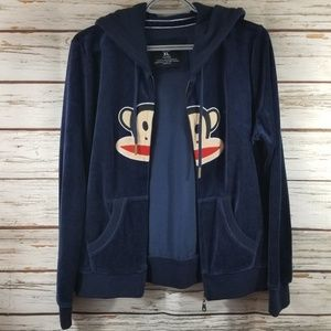 Paul Frank Blue Jacket w/ monkey, size XL